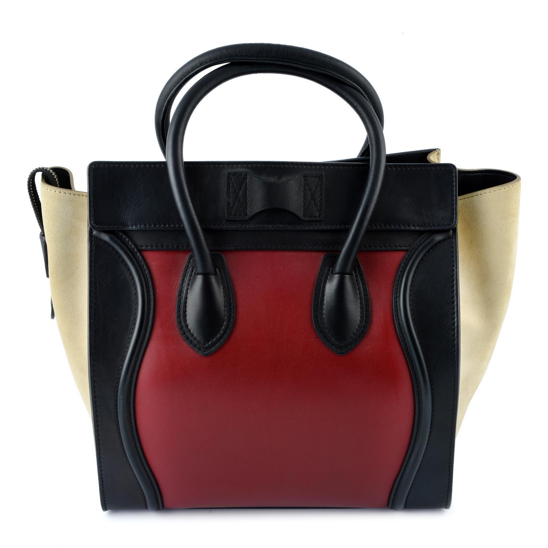 CÉLINE - a Mini Tricolour Luggage Tote. - Image 2 of 5