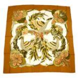 HERMÈS - a 'Tahiti' silk scarf.