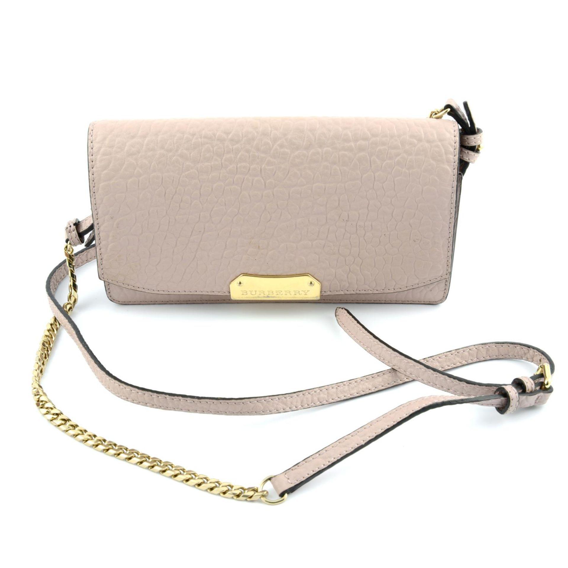 BURBERRY - pink Madison Wallet On Chain handbag. - Image 4 of 5