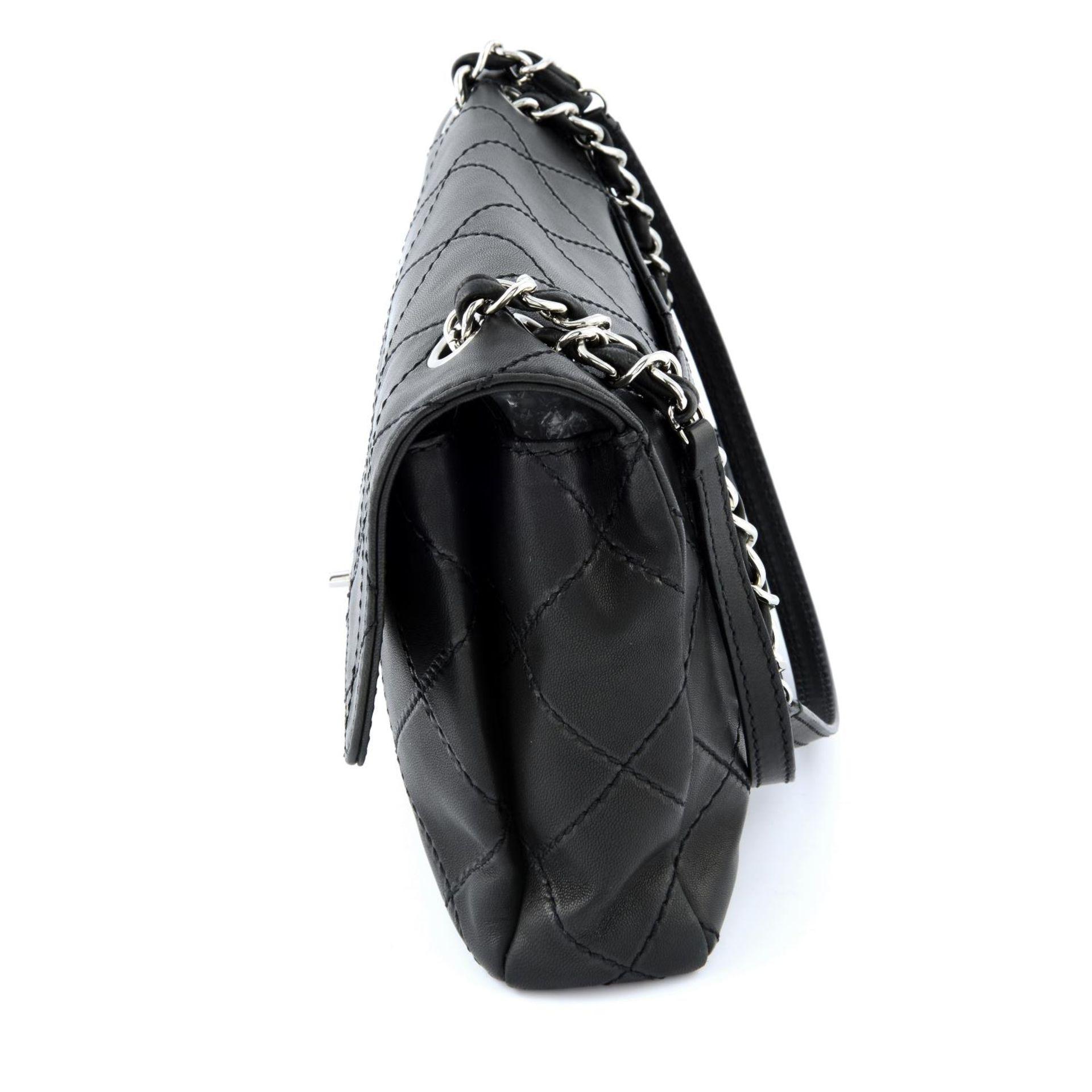 CHANEL - a maxi single flap handbag. - Image 4 of 5