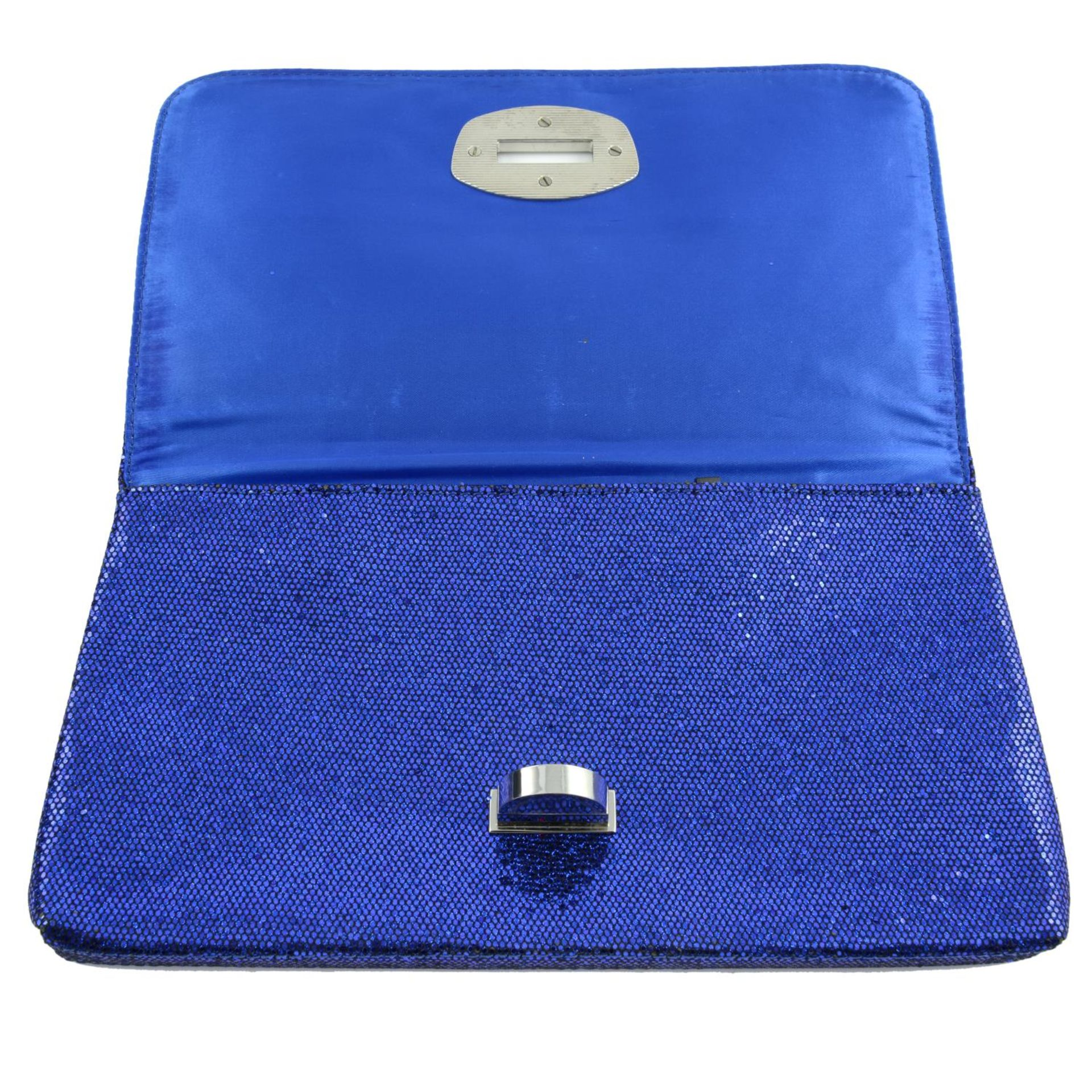 ARMANI EXCHANGE - a blue glitter clutch. - Image 4 of 4