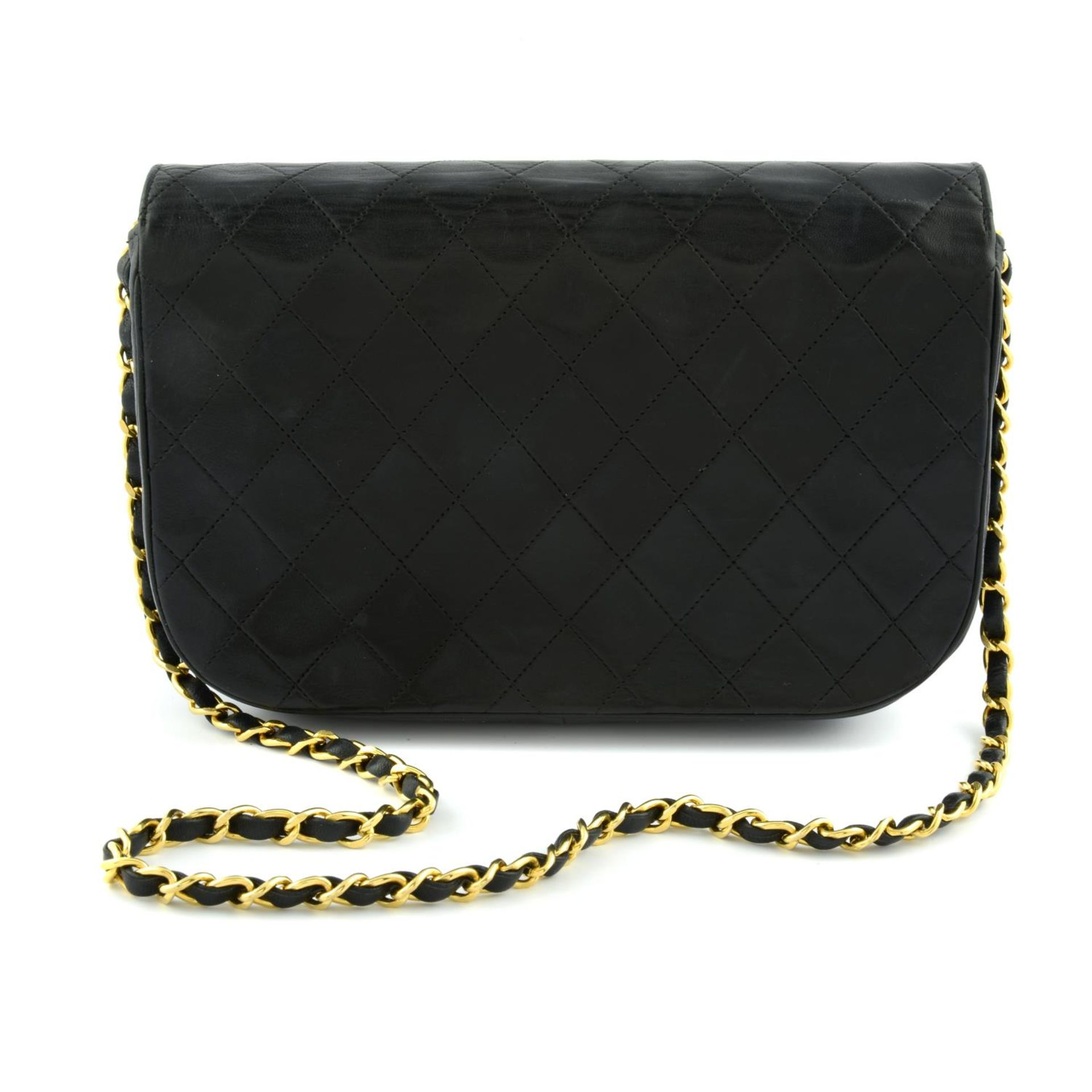 CHANEL - a leather double flap handbag. - Image 2 of 5