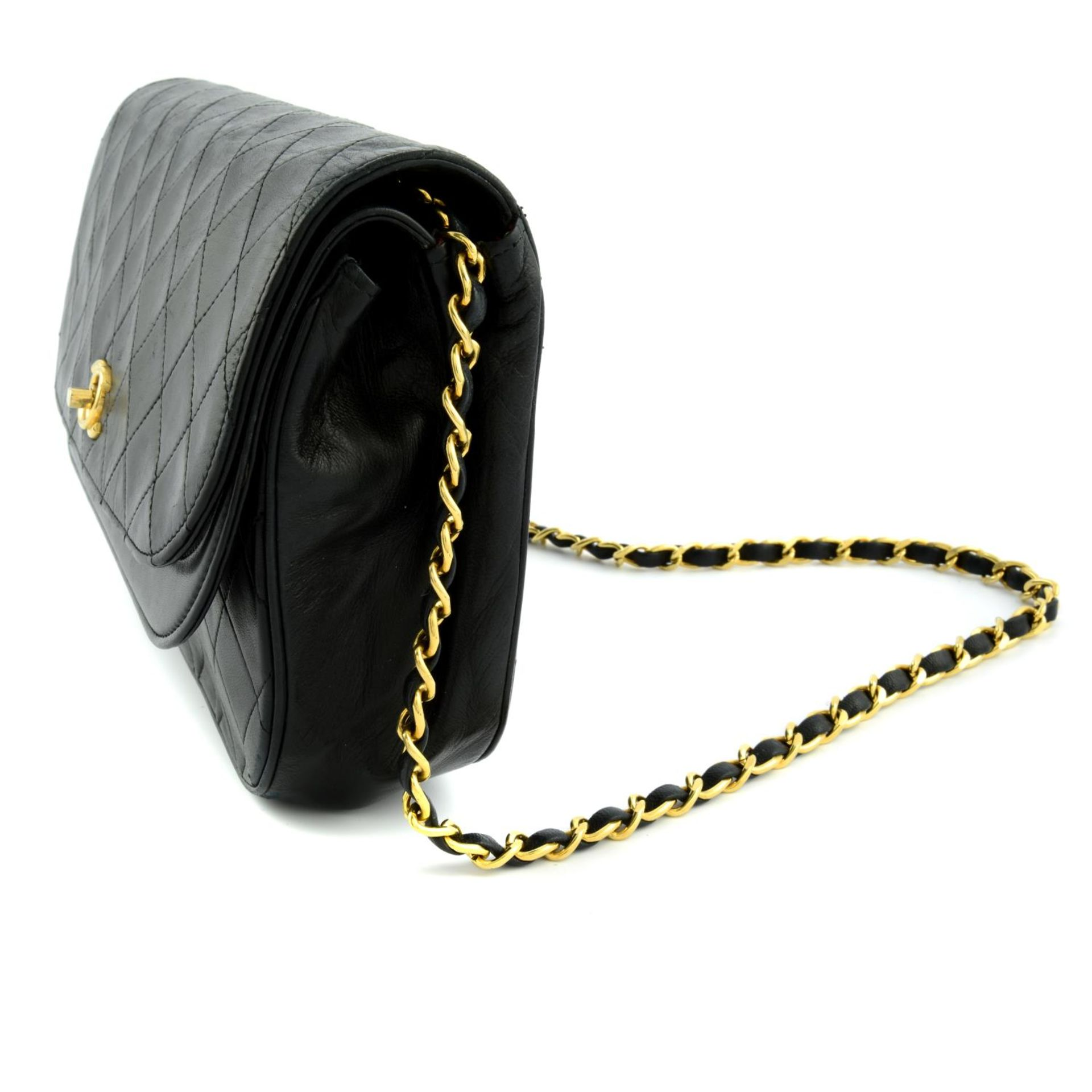 CHANEL - a leather double flap handbag. - Image 3 of 5