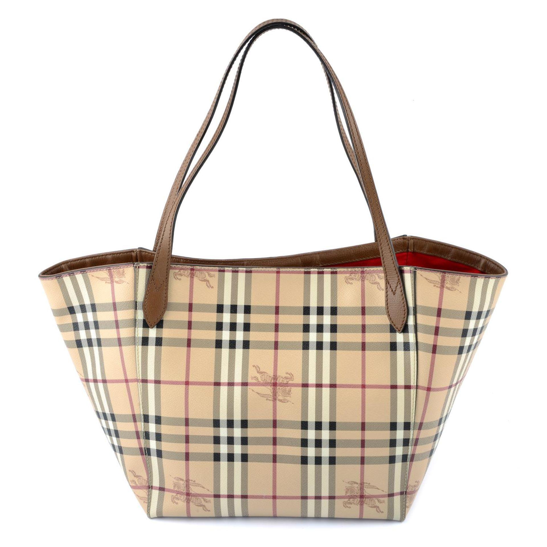 BURBERRY - a Haymarket Check handbag. - Image 2 of 4