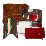 A selection of designer scarves.
