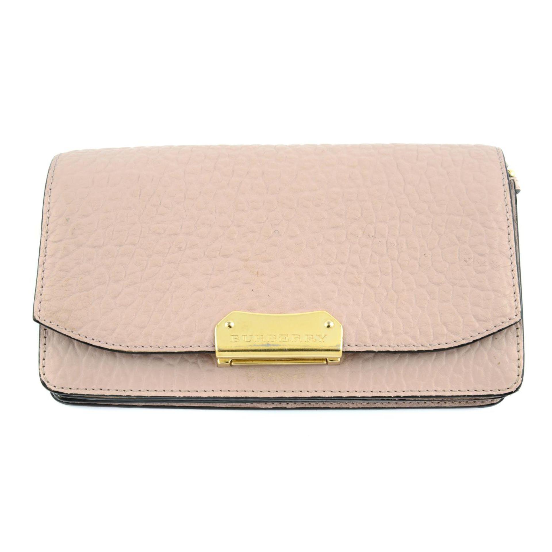 BURBERRY - pink Madison Wallet On Chain handbag.