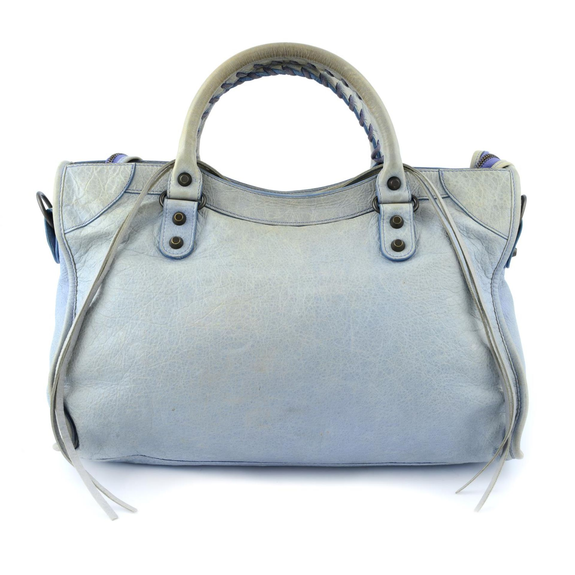 BALENCIAGA - a light blue Classic City handbag. - Image 2 of 6