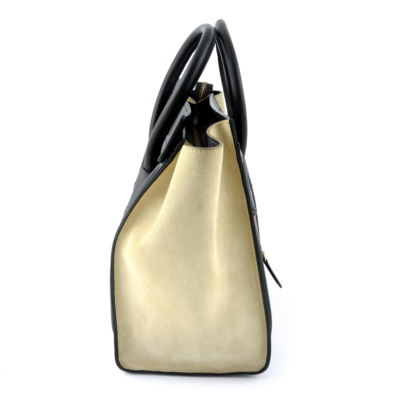CÉLINE - a Mini Tricolour Luggage Tote. - Image 4 of 5