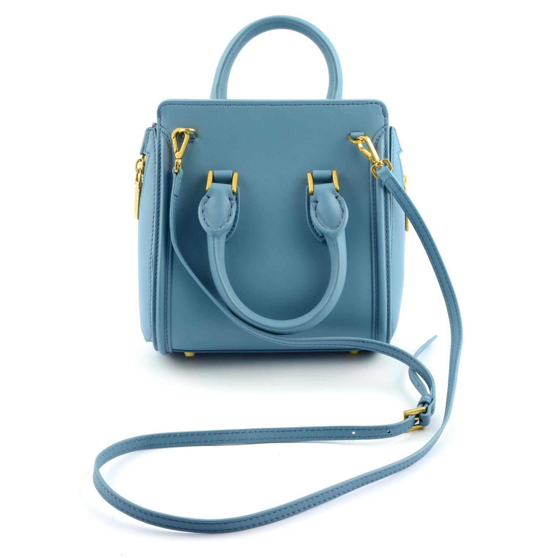 ALEXANDER MCQUEEN - a blue embellished mini Heroine handbag. - Image 2 of 6