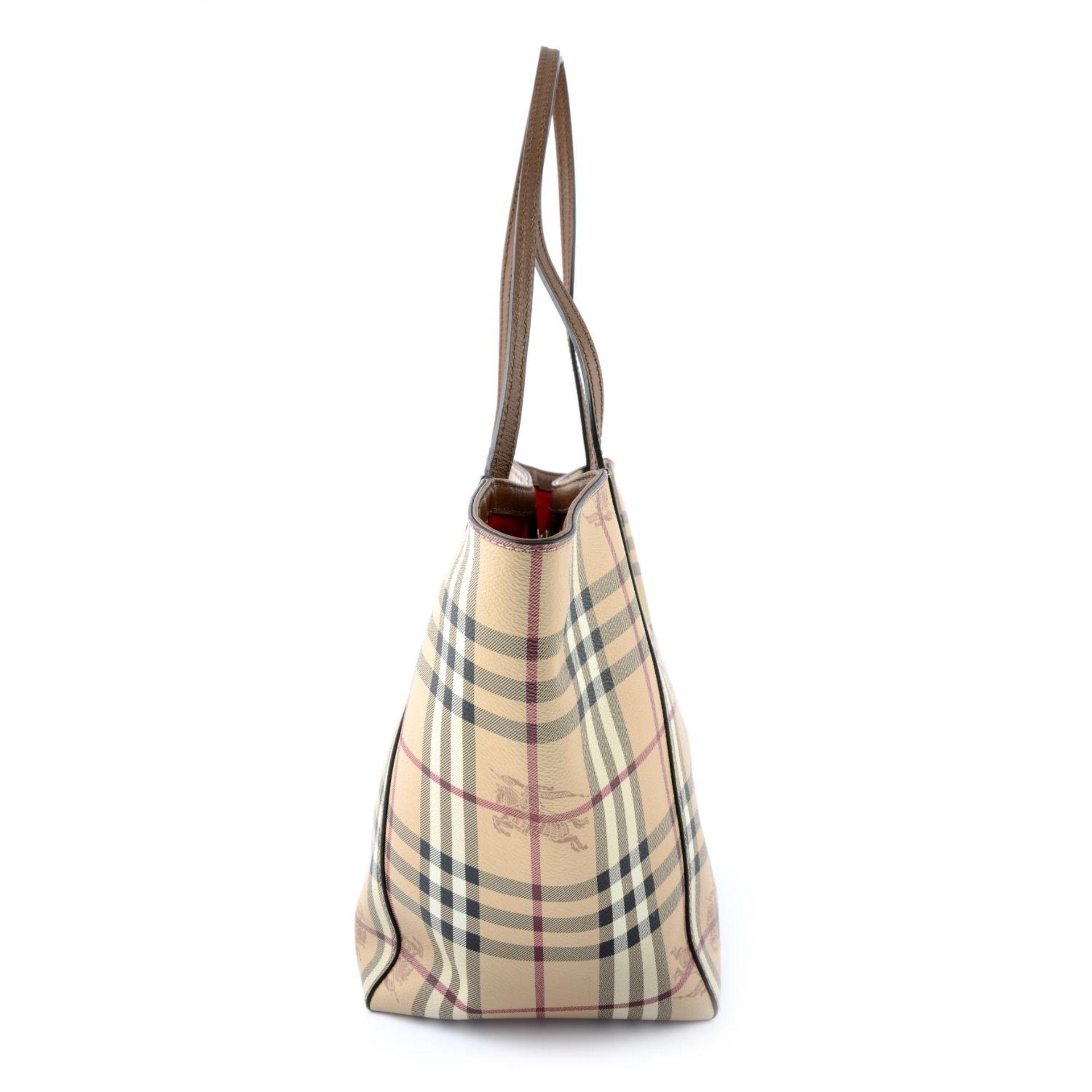 BURBERRY - a Haymarket Check handbag. - Image 3 of 4