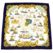 HERMÈS - a 'Voiles de Lumiere' silk scarf.