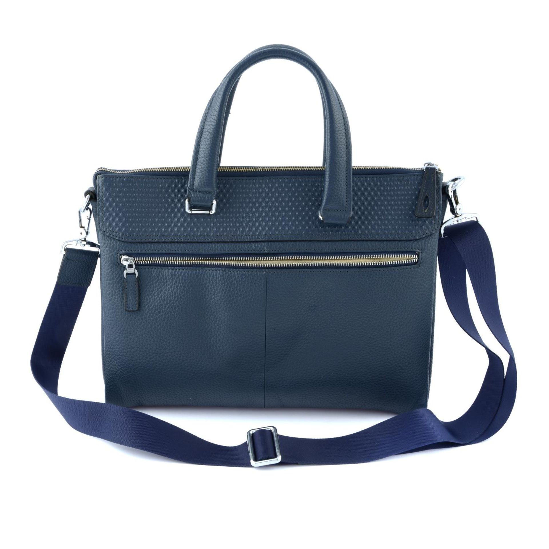 BURBERRY - a blue leather briefcase. - Image 2 of 5