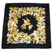 HERMÈS - a 'L'intrus' silk scarf.