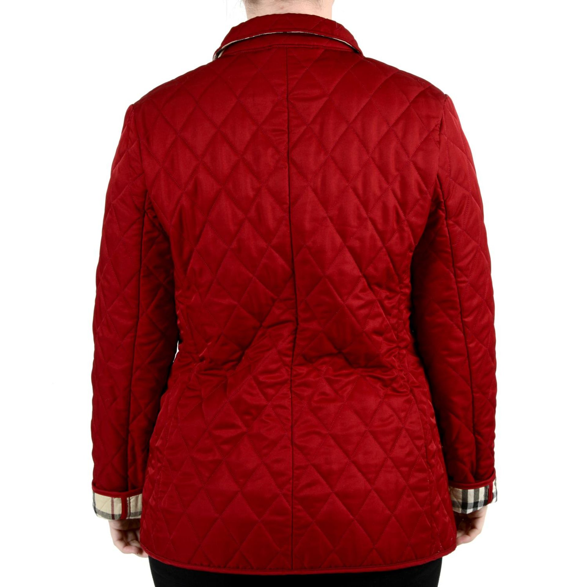 BURBERRY - a red quilted jacket. - Image 2 of 4