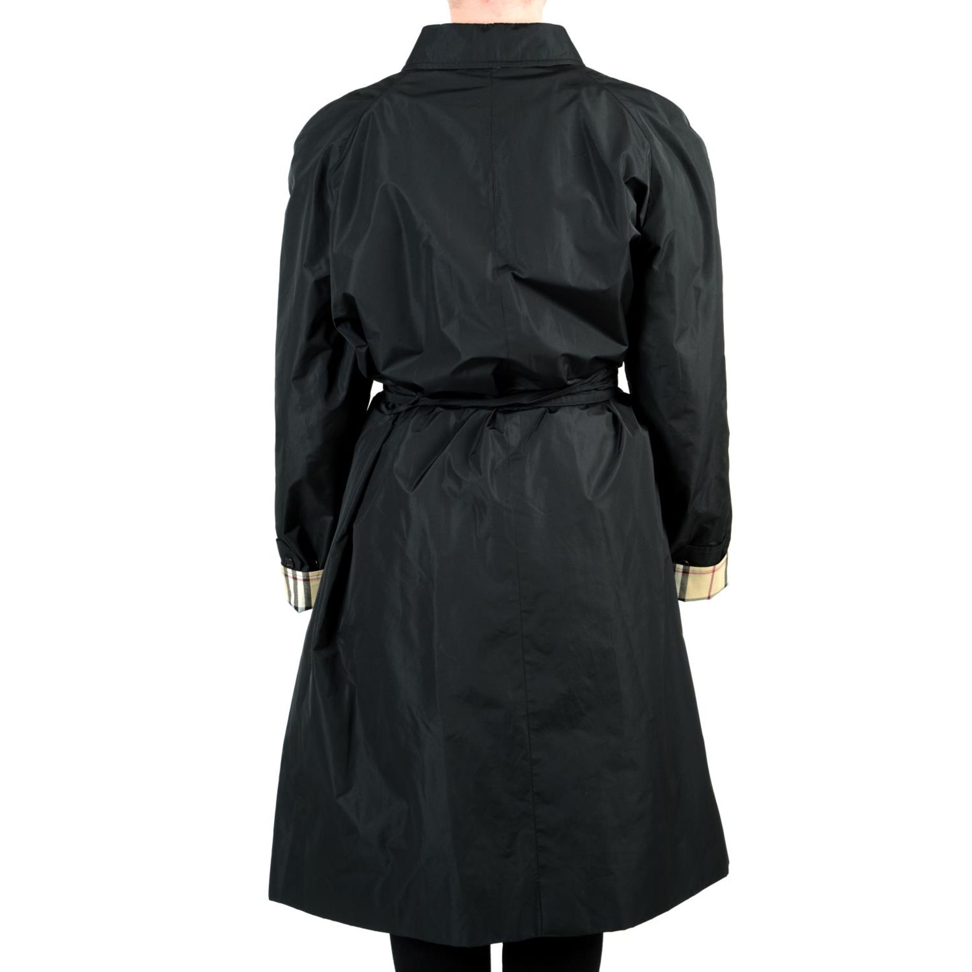 BURBERRY - a black raincoat. - Image 2 of 4