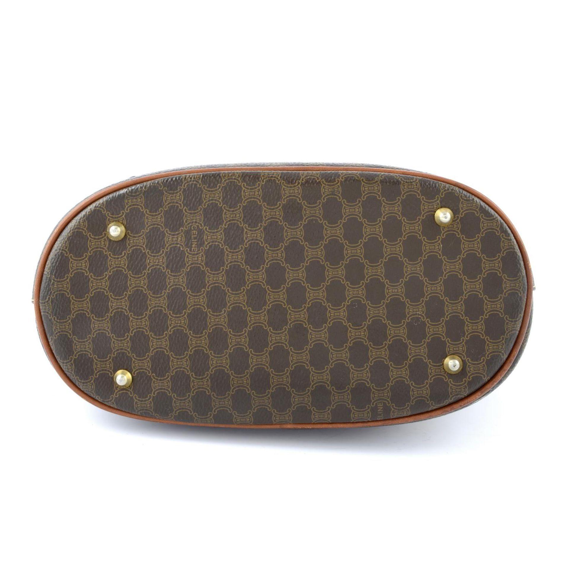 CÉLINE - a Macadam coated canvas handbag. - Image 5 of 5