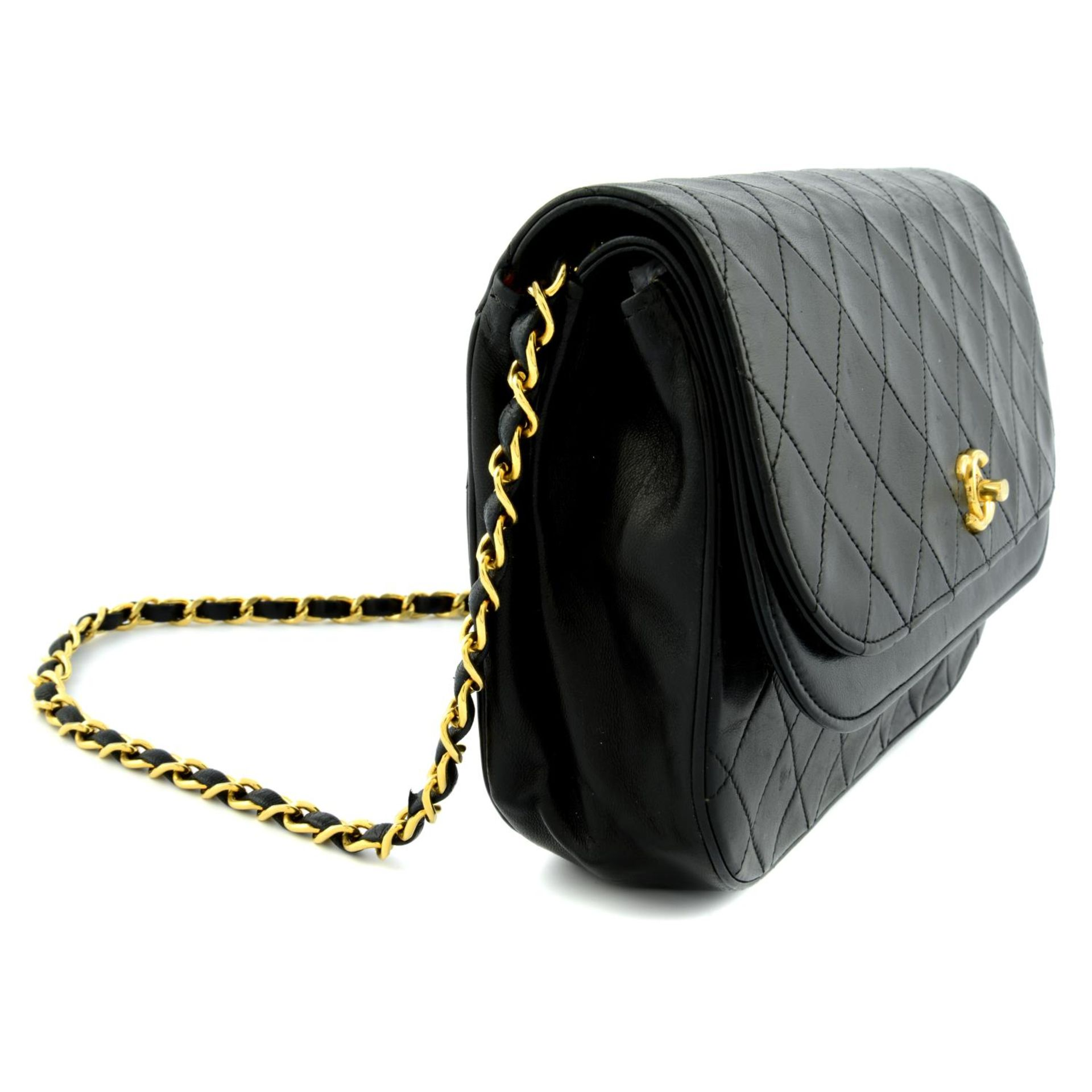 CHANEL - a leather double flap handbag. - Image 4 of 5