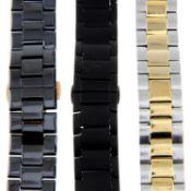 A bag of assorted Armani bracelet links.
