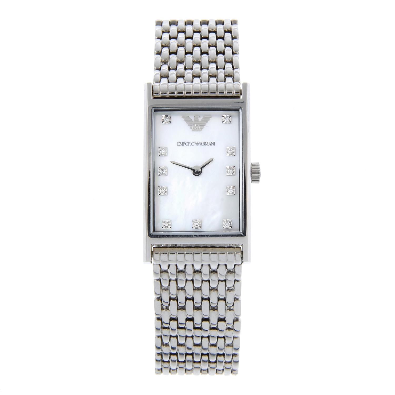 EMPORIO ARMANI - a lady's bracelet watch.