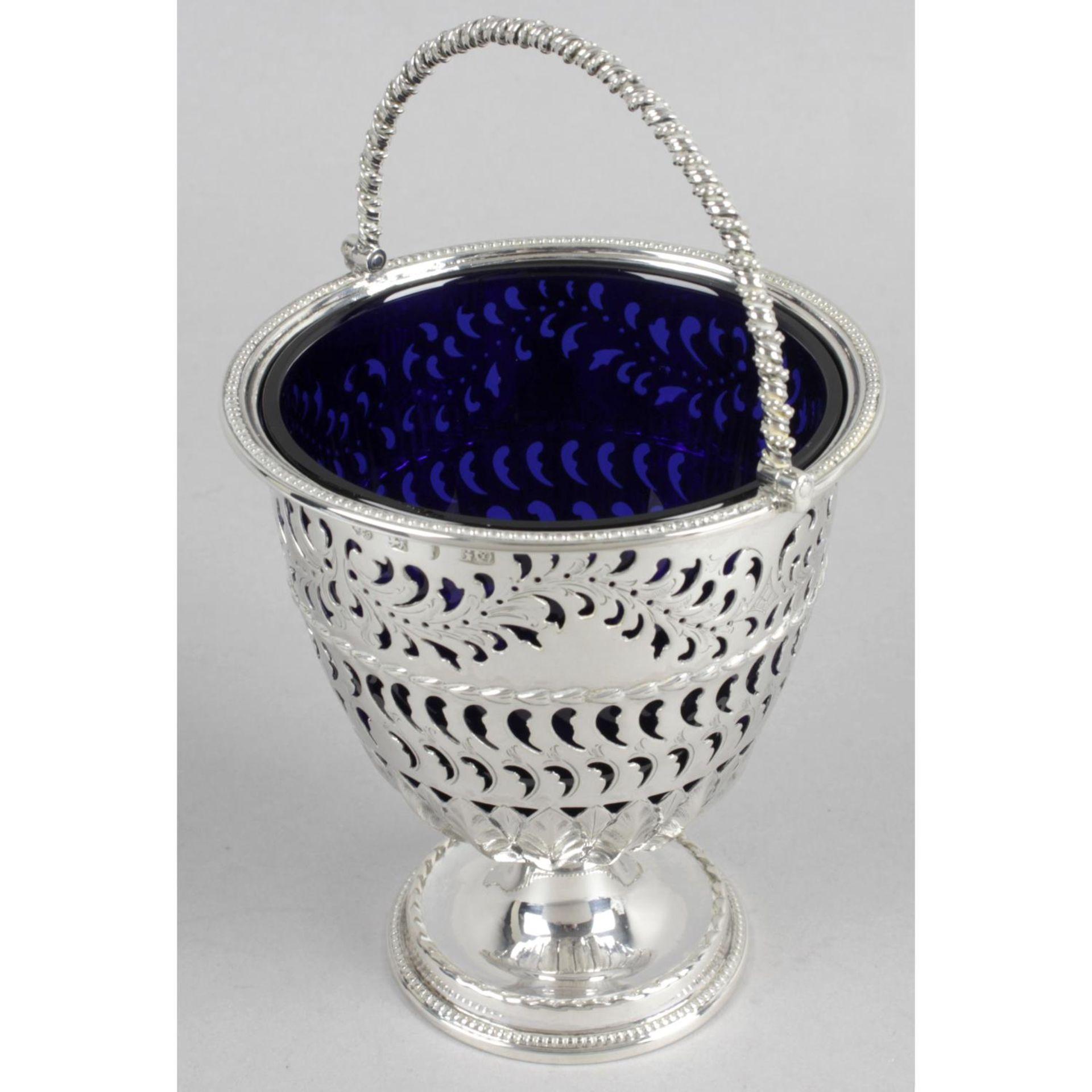 A Victorian silver sugar basket, - Image 2 of 3