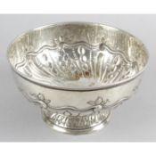 A late Victorian silver pedestal bowl,