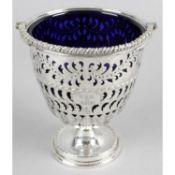 A Victorian silver sugar basket,