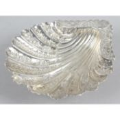 A late Victorian silver butter dish,