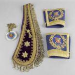 An antique Masonic sash,