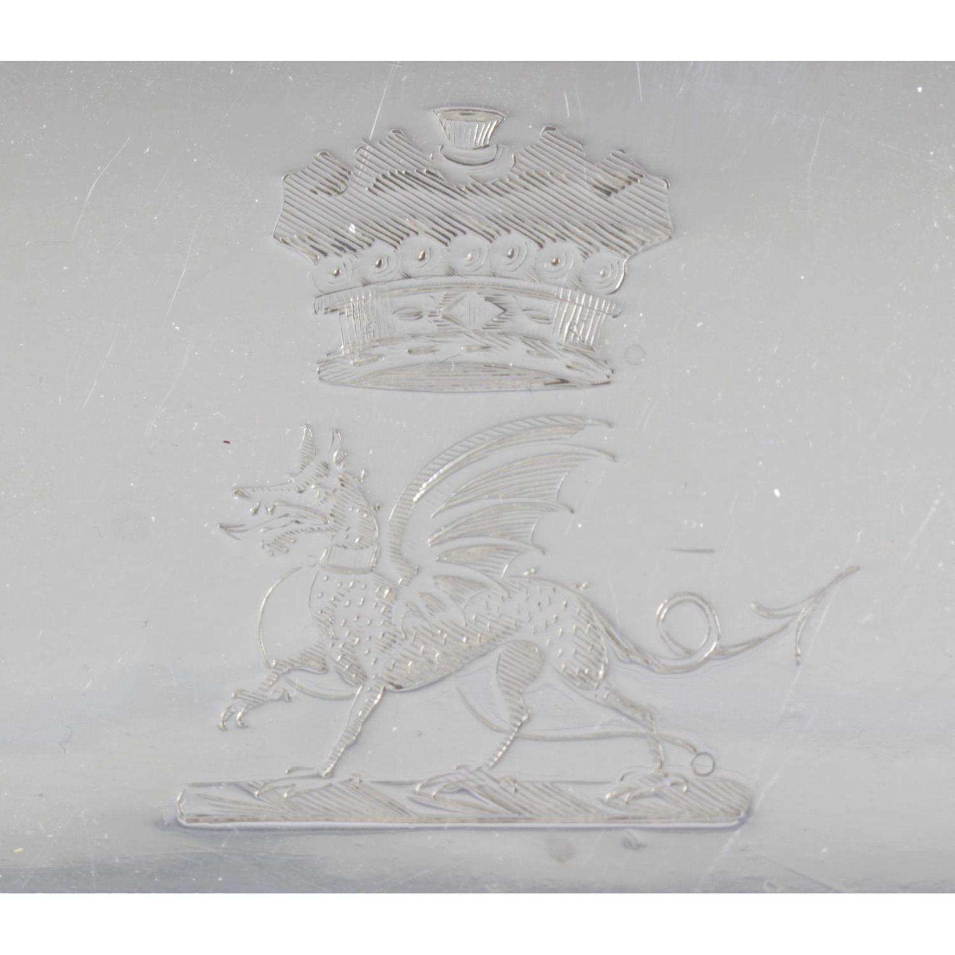 A George III silver swing-handled cake basket, - Image 5 of 6