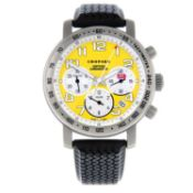 CHOPARD - a limited edition gentleman's Mille Miglia 'Speed Yellow' chronograph wrist watch.