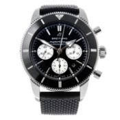 CURRENT MODEL: BREITLING - a gentleman's SuperOcean Heritage II chronograph wrist watch.
