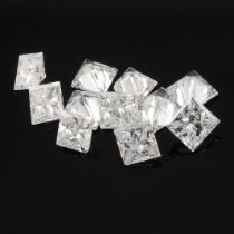 Selection of square shape diamonds, weighing 2.83ct.