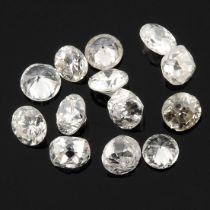 Selection of brilliant cut diamonds, weighing 4.73ct.