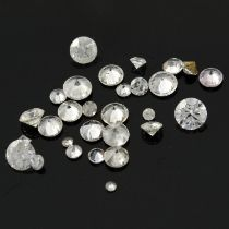 A selection of diamonds.