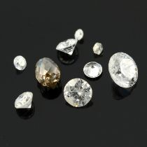 A small selection of diamonds, estimated total weight 1.67cts.
