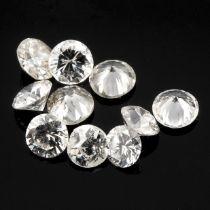 Selection of brilliant cut diamonds,