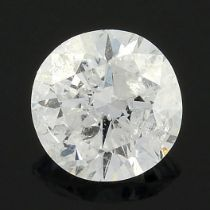 A brilliant-cut diamond, weighing 0.25ct.