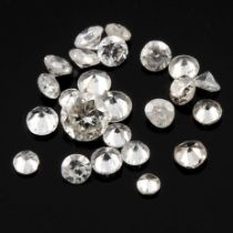 Selection of brilliant cut diamonds, weighing 4.03ct.
