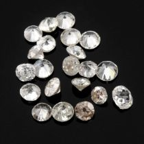 Selection of brilliant cut diamonds, weighing 3ct.