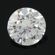 A brilliant-cut diamond, weighing 0.36ct.