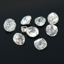 A selection of old cut diamonds.
