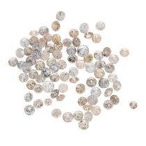 A small selection of round brilliant-cut melee diamonds and 'brown' and 'yellow' melee diamonds.
