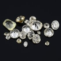 Selection of old cut diamonds,