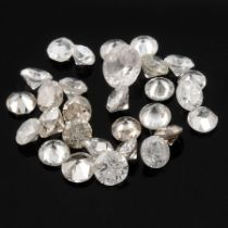 Selection of brilliant cut diamonds, weighing 4.24ct.
