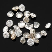 Selection of brilliant cut diamonds, weighing 4.8ct.