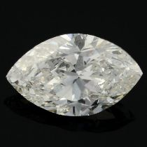 A marquise-shape diamond, weighing 0.49ct.