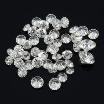 Selection of melee diamonds,