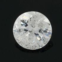 A brilliant-cut diamond, weighing 0.27ct.