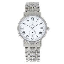 CURRENT MODEL: LONGINES - a gentleman's Presence bracelet watch.