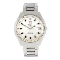 OMEGA - a gentleman's Geneve F300Hz bracelet watch.